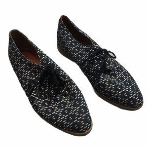 MADEWELL Black/White Leather/Fabric Oxford Shoes 7